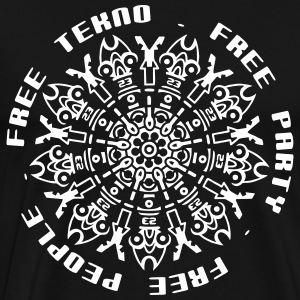 Free tekno free party free people - Men's Premium T-Shirt