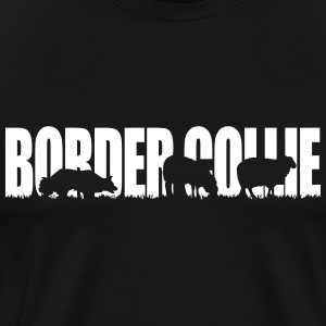 BORDER COLLIE WORKING DOG - Men's Premium T-Shirt