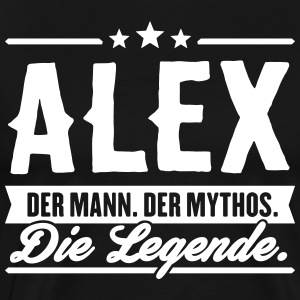 Man Myth Legend Alex - Premium-T-shirt herr