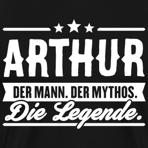 Man Myth Legend Arthur - Premium T-skjorte for menn