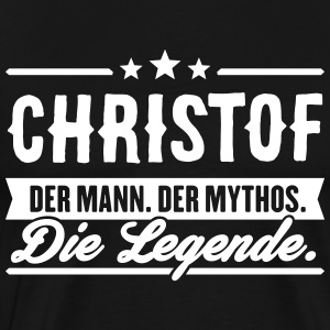 Man Myth Legend Christof - T-shirt Premium Homme
