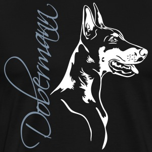 Doberman - Dobermann - Premium T-skjorte for menn