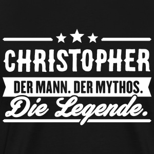 Man Myth Legend Christopher - Premium T-skjorte for menn