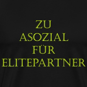 Antisocial Elite Partner - Premium-T-shirt herr