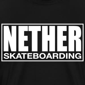 Nether Skateboarding T-shirt Sort - Herre premium T-shirt
