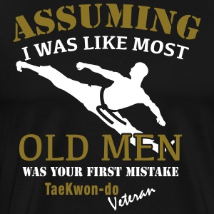 Tae Kwon Do Veteran Mann - Premium T-skjorte for menn