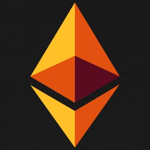 Ethereum Logo (Orange) - Mannen Premium T-shirt