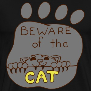 Attention Cat! - Choose your colors! - Men's Premium T-Shirt