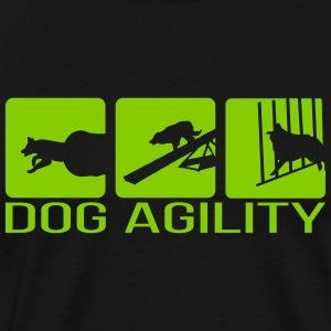Dog Agility - Premium T-skjorte for menn