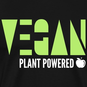 Vegan - Plant Powered - Herre premium T-shirt