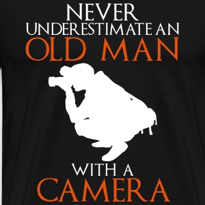 Never Underestimate Old Man with Camera - Men's Premium T-Shirt