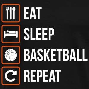 Eat Sleep Pallacanestro Repeat - Maglietta Premium da uomo
