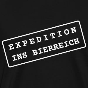 Bier Shirt - Expedition ins Bierreich - Männer Premium T-Shirt