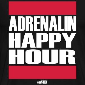 Adrenalin Happy Hour - Herre premium T-shirt