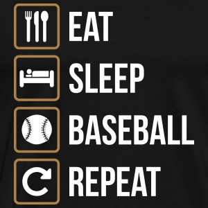 Eat Sleep Baseball Softball Repeat - Männer Premium T-Shirt