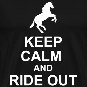 Keep Calm Horse - Herre premium T-shirt