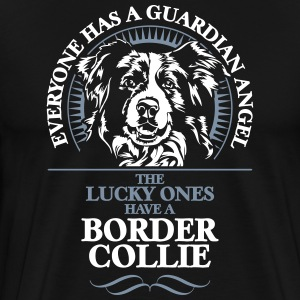 GUARDIAN ANGEL Border Collie - Premium T-skjorte for menn