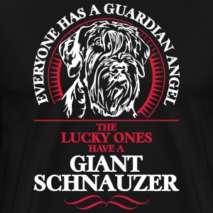 GUARDIAN ANGEL GIANT SCHNAUZER - Men's Premium T-Shirt