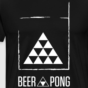 Beer Pong Table Triangle - Herre premium T-shirt