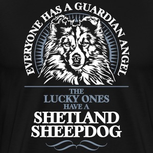 GUARDIAN ANGEL Shetland Sheepdog - Premium T-skjorte for menn