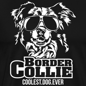 Border Collie kuleste hund - Premium T-skjorte for menn
