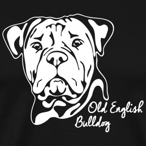 OLD ENGLISH BULLDOG PORTRAIT - Men's Premium T-Shirt