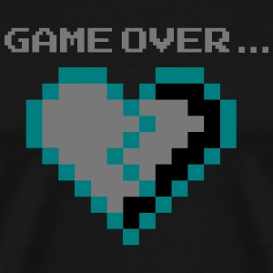 Game Over. Bruten Pixel Heart lovelorn - Premium-T-shirt herr