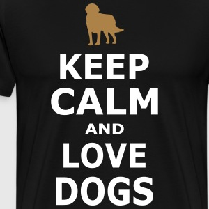 KEEP CALM AND LOVE DOGS - Simple - Men's Premium T-Shirt
