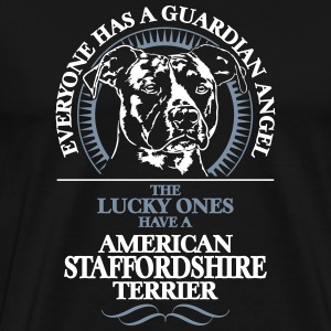 GUARDIAN ANGEL AMERICAN STAFFORDSHIRE TERRIER - Men's Premium T-Shirt