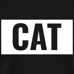 Cats - Cat lettering in the bar - Men's Premium T-Shirt