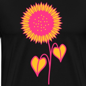 tournesol rose - T-shirt Premium Homme