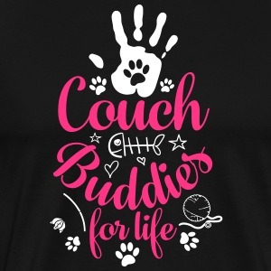 Cat Cat Couch Buddies - Premium T-skjorte for menn