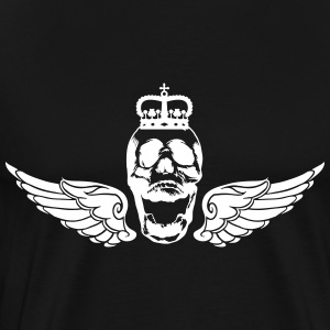 Skull with wings and crown - Men's Premium T-Shirt
