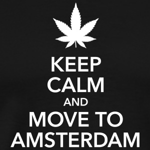 keep calm move to Amsterdam Holland Cannabis Weed - Männer Premium T-Shirt