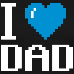 I Love My Dad pixel fathers day - Men's Premium T-Shirt