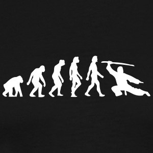 Evolution of Martial Arts - Herre premium T-shirt