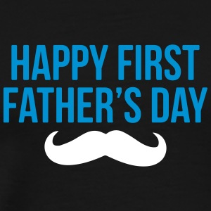 Happy First Father's day - vatertag - Männer Premium T-Shirt