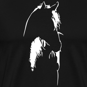 Horse in backlight - Men's Premium T-Shirt