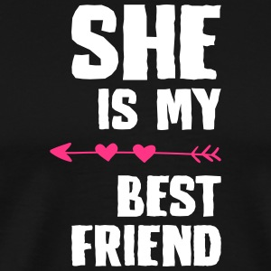 She is my best friend Right - Men's Premium T-Shirt