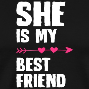 She is my best friend Left - Men's Premium T-Shirt