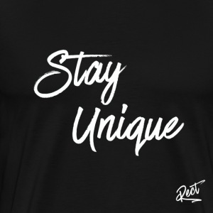 (MEN) (SLIM FIT) STAY_UNIQUE - Premium T-skjorte for menn