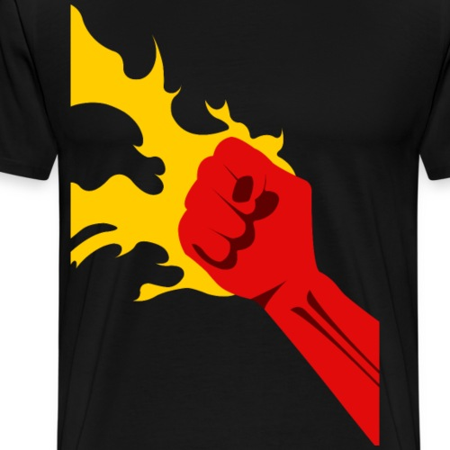 Power Fist - Premium-T-shirt herr