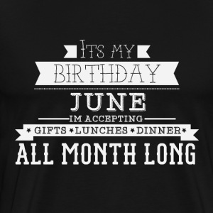 June birthday - Men's Premium T-Shirt