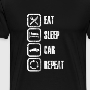EAT SLEEP AUTO REPEAT - T-shirt Premium Homme