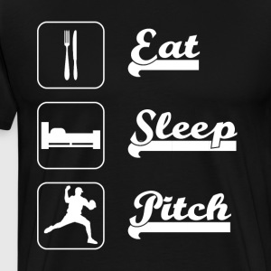 Eat sleep pitch Baseball - Männer Premium T-Shirt