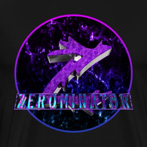 3D Logo av zer0minator - Premium T-skjorte for menn