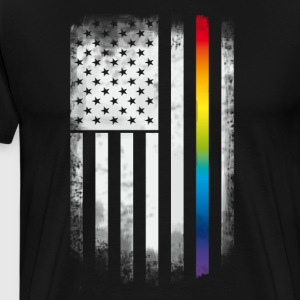 Rainbow flag Amerika usa Gay csd parade LGBT flagg - Premium T-skjorte for menn