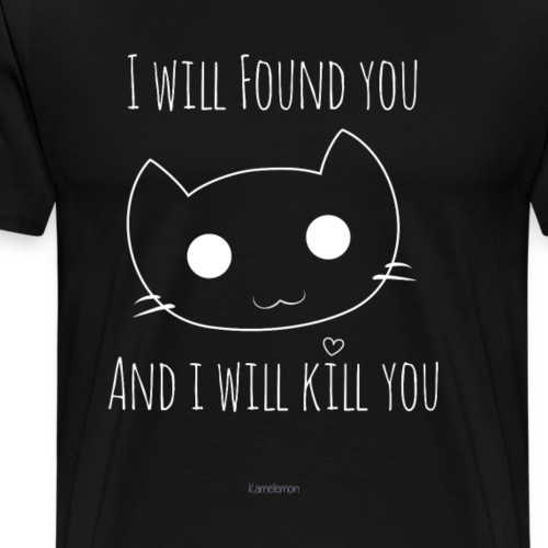 Humoristique - Smiley cute cat - T-shirt Premium Homme