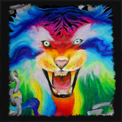 Regenbogen Tiger - Männer Premium T-Shirt