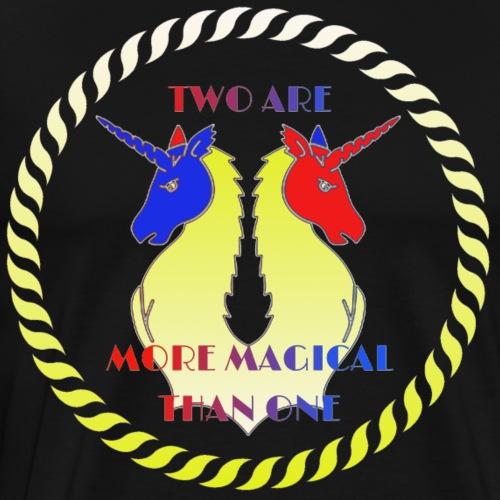 zwei Einhörner sind magischer als eins - Männer Premium T-Shirt